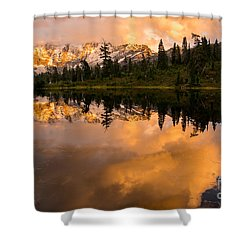 Picture Lake 1 Shower Curtain by Sabine Edrissi