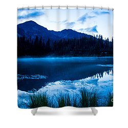 Picture Lake 3 Shower Curtain by Sabine Edrissi