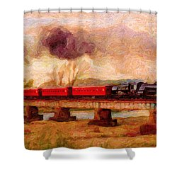 Picture Postcard Shower Curtain