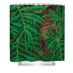 philodendron pictures - Lizard Leaves Shower Curtain