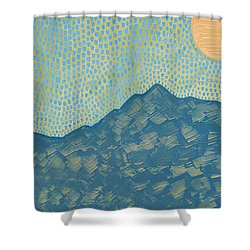 Picuris Mountains Original Painting Shower Curtain by Sol Luckman