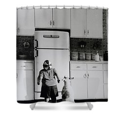 Pie In The Sky In Black And White Shower Curtain