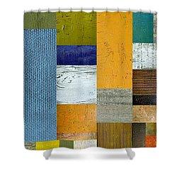 Pieces Parts Lv Shower Curtain by Michelle Calkins