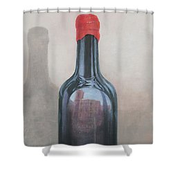 Pienza Reflection Shower Curtain by Lincoln Seligman