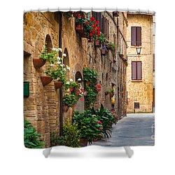 Pienza Street Shower Curtain