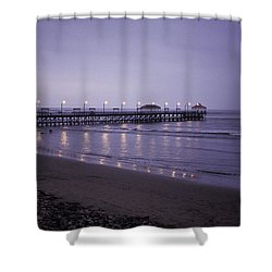 Pier At Dusk Shower Curtain by Lana Enderle