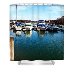 Pier Pressure - Lake Norman Shower Curtain