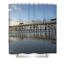 Pier Reflection Shower Curtain