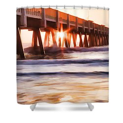 Pier Sunrise Too Shower Curtain