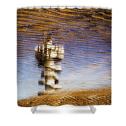 Pier Tower Shower Curtain by Dave Bowman