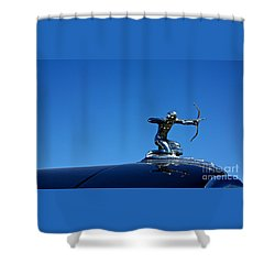 Shower Curtain featuring the photograph 1938 Pierce Arrow by Linda Bianic