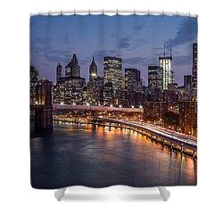 Piercing Manhattan Shower Curtain by Mihai Andritoiu