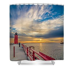 Pierhead October Sky Shower Curtain