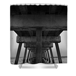 Pierhenge Il Shower Curtain by Laura Fasulo