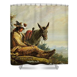 Pierre Shower Curtain by Alfred Jacob Miller