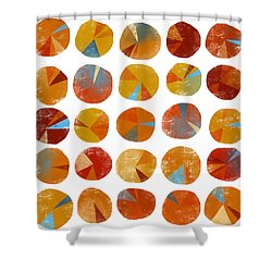 Pies Are Squared Shower Curtain by Nic Squirrell