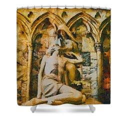 Pieta Masterpiece Shower Curtain by Dan Sproul
