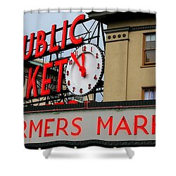 Pike Place Farmers Market Sign Shower Curtain