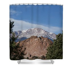 Pikes Peak 2 Shower Curtain by Ernie Echols