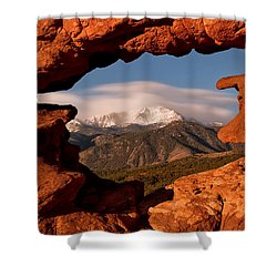 Pikes Peak Framed Shower Curtain