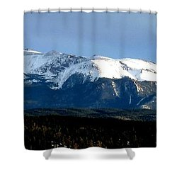 Pikes Peak Panorama Shower Curtain