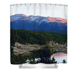 Pikes Peak Sunset Shower Curtain