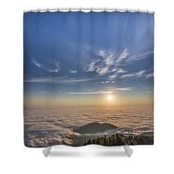 Pilchuck West 2 Shower Curtain by Charlie Duncan