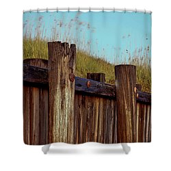 Pilings Folly Beach Sc Shower Curtain