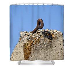 Pillar And Sky Shower Curtain by Fran Riley