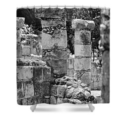 Shower Curtain featuring the photograph Pillars In Disarray by Kirt Tisdale