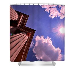Pillars In The Sun Shower Curtain by Matt Harang