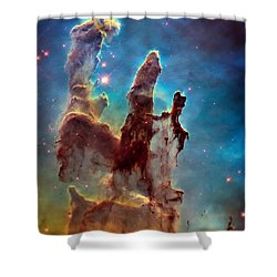 Pillars Of Creation In High Definition Cropped Shower Curtain