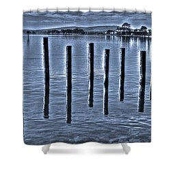 pillars on the Bay Shower Curtain