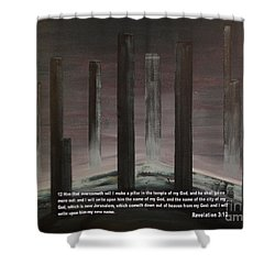 Pillars Shower Curtain by Wayne Cantrell
