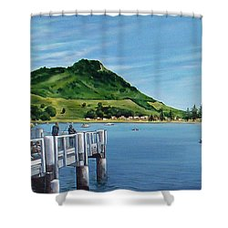 Pilot Bay 280307 Shower Curtain by Sylvia Kula