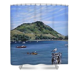 Pilot Bay Mt M 291209 Shower Curtain by Sylvia Kula