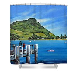 Pilot Bay Mt Maunganui 201214 Shower Curtain by Selena Boron