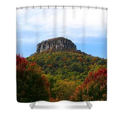 Pilot Mountain From 52 Shower Curtain