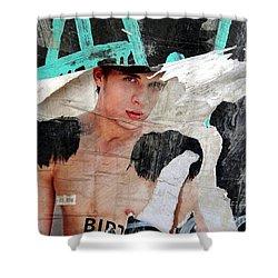 Pin Up Boy Shower Curtain by Ed Weidman
