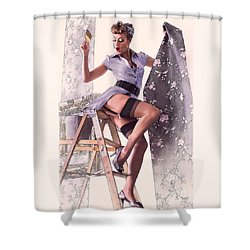 Pin-up Maid Shower Curtain