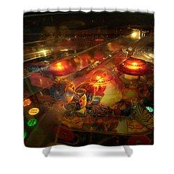 Pinball IIi Shower Curtain by Lanita Williams