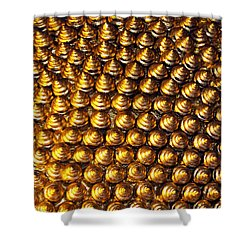 Pincushion Shower Curtain by Justin Woodhouse