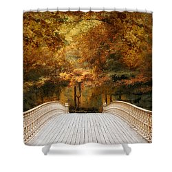 Pine Bank Autumn Shower Curtain
