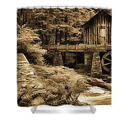 Pine Run Grist Mill Shower Curtain by Priscilla Burgers