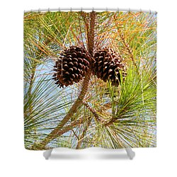 Pinecone's Shower Curtain