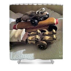 Pinewood Derby Art Shower Curtain