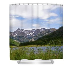 Piney Lake In Upper Vail Shower Curtain