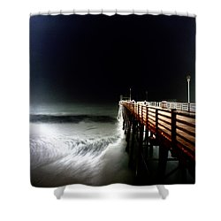 Pinhole Oceanside Pier Shower Curtain