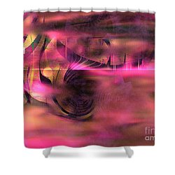 Pink Abstract Nature Shower Curtain