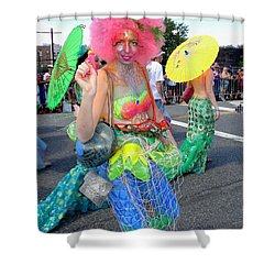 Shower Curtain featuring the photograph Pink Afro by Ed Weidman